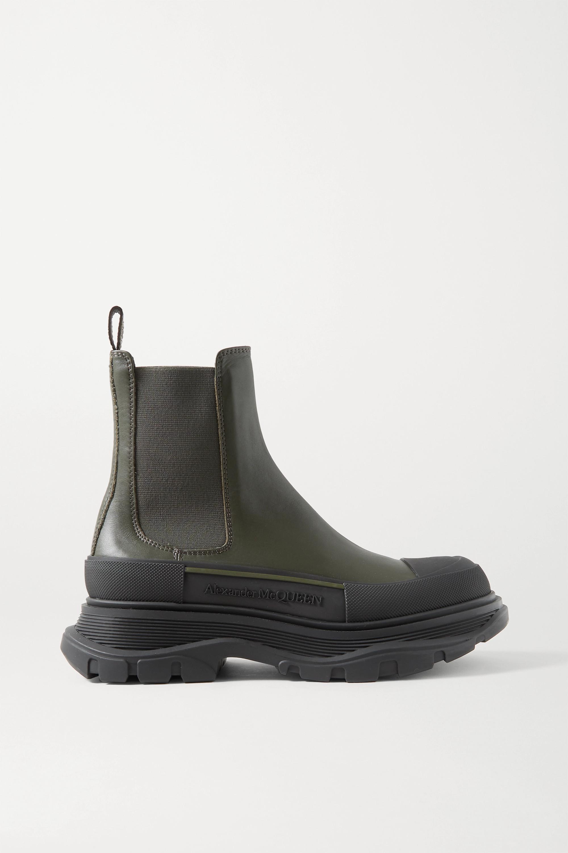 Alexander McQueen Chelsea Boots aus Leder mit überstehender Sohle