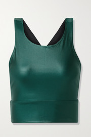Heroine Sport Hampton metallic stretch sports bra