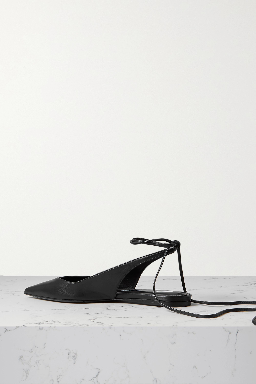 The Attico Venus leather point-toe flats