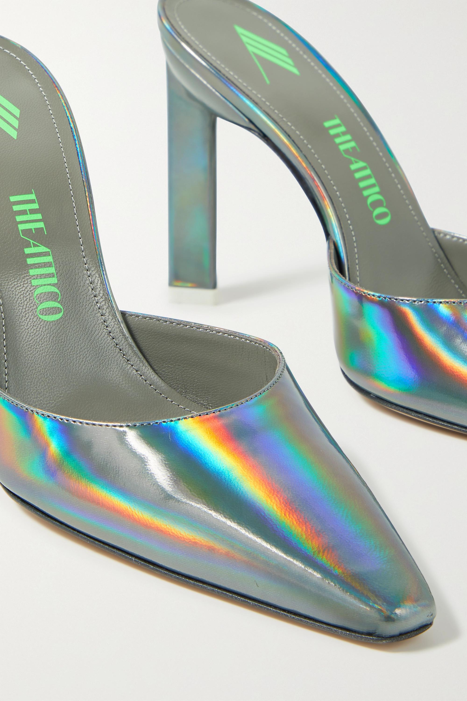 The Attico Amber iridescent leather pumps