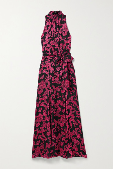 ALICE AND OLIVIA DITA DEVORÉ-CHIFFON MAXI DRESS