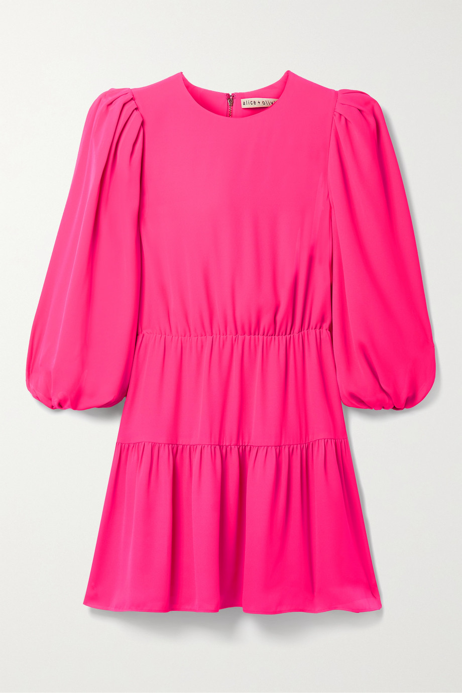 Alice + Olivia Shayla tiered crepe mini dress