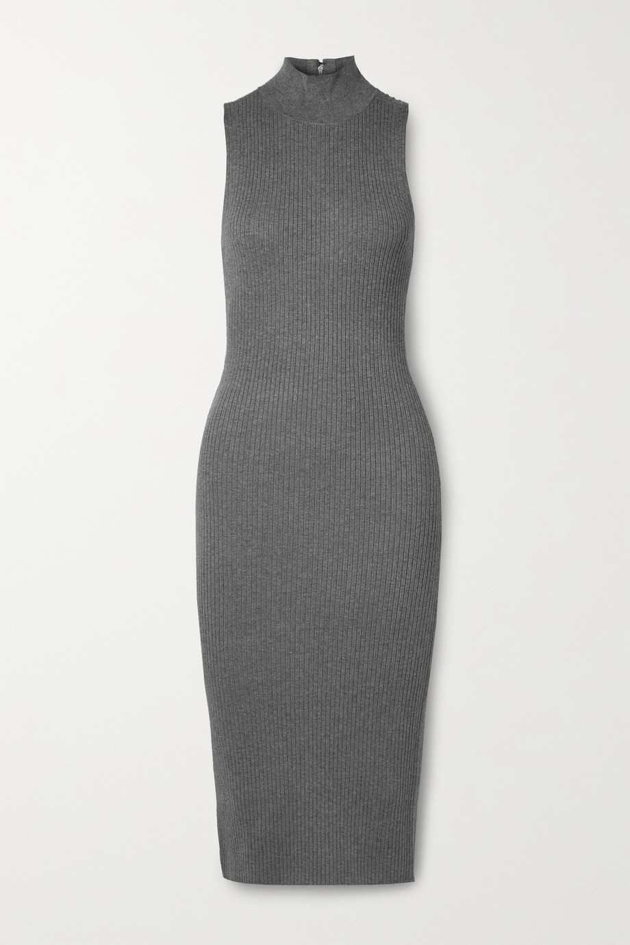 Alice + Olivia Brooklynne ribbed stretch-knit turtleneck midi dress