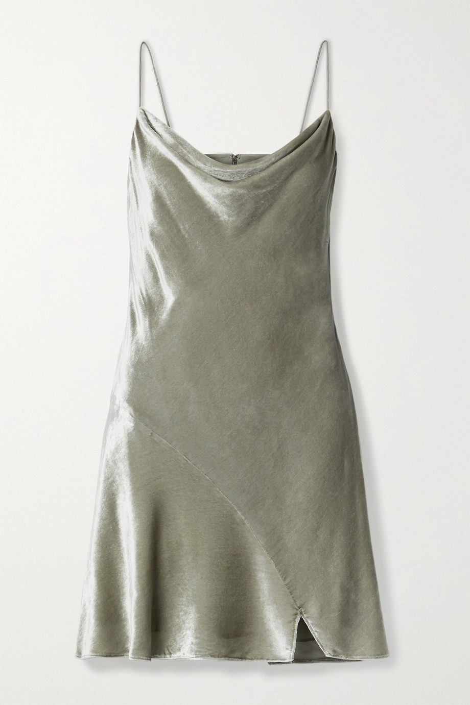 Alice + Olivia Carmelina draped velvet mini dress