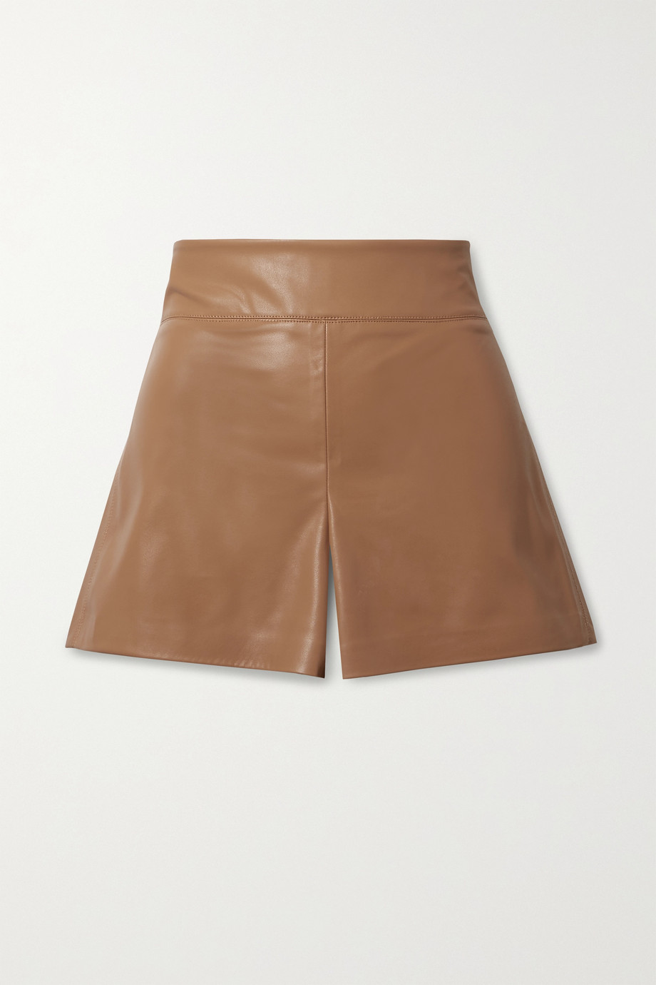 Alice + Olivia Donald vegan stretch-leather shorts