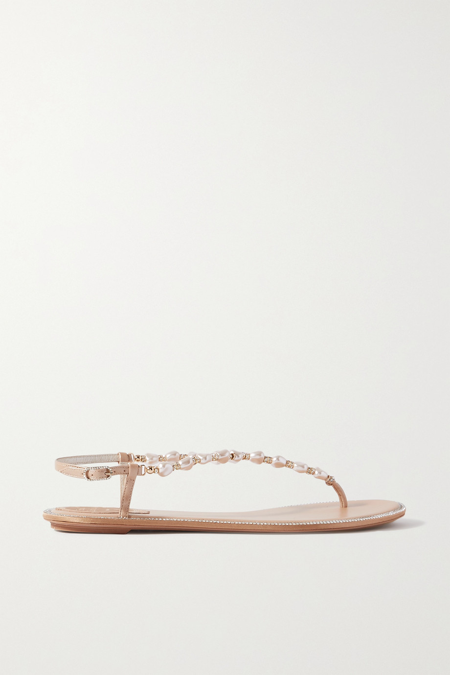 René Caovilla Cecile embellished leather sandals