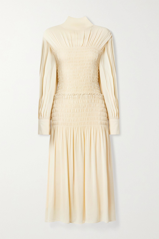 Proenza Schouler Cutout shirred crepe midi dress