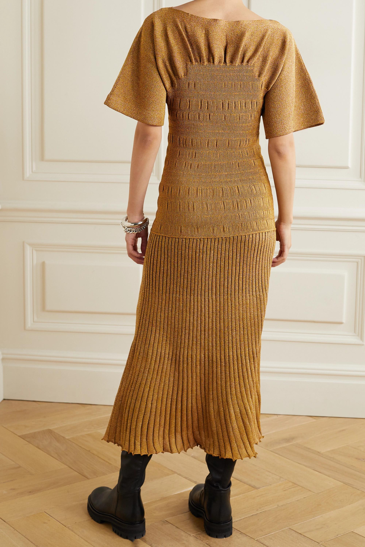 Proenza Schouler Shirred stretch-knit midi dress