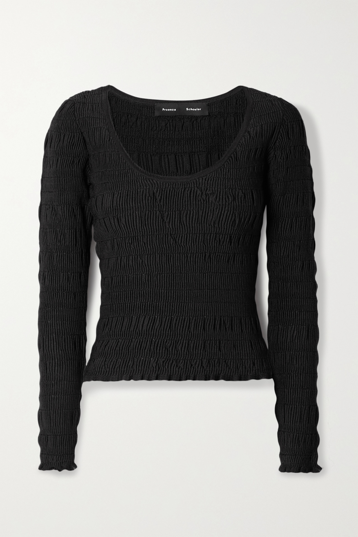 Proenza Schouler Shirred stretch-knit top