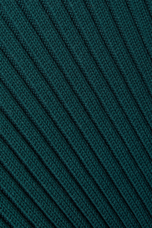 Proenza Schouler Asymmetric ribbed cotton, cashmere and silk-blend turtleneck sweater