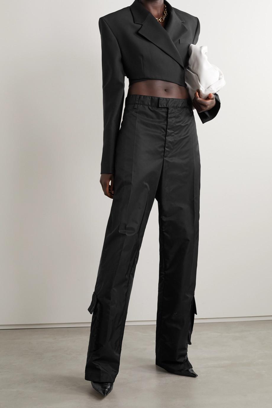 Proenza Schouler Cropped wool-blend crepe blazer