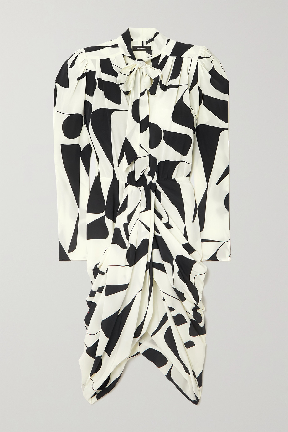Isabel Marant Atoae wrap-effect printed silk-blend georgette dress