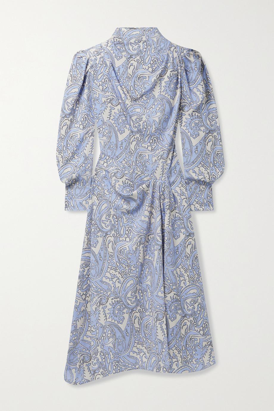 Isabel Marant Berni draped printed Lyocell-twill midi dress