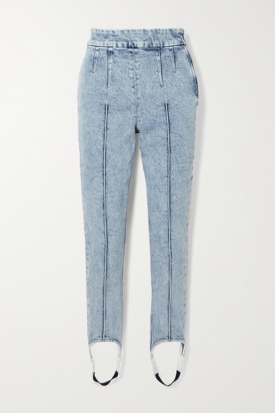Isabel Marant Nanouli hoch sitzende Skinny Jeans mit Steg und Ziernähten
