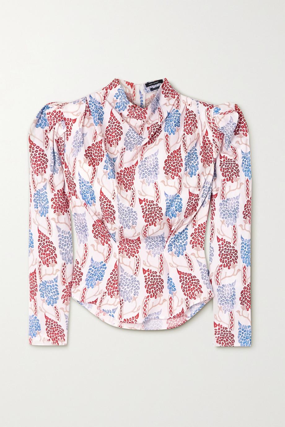 Isabel Marant Bayani printed Lyocell blouse