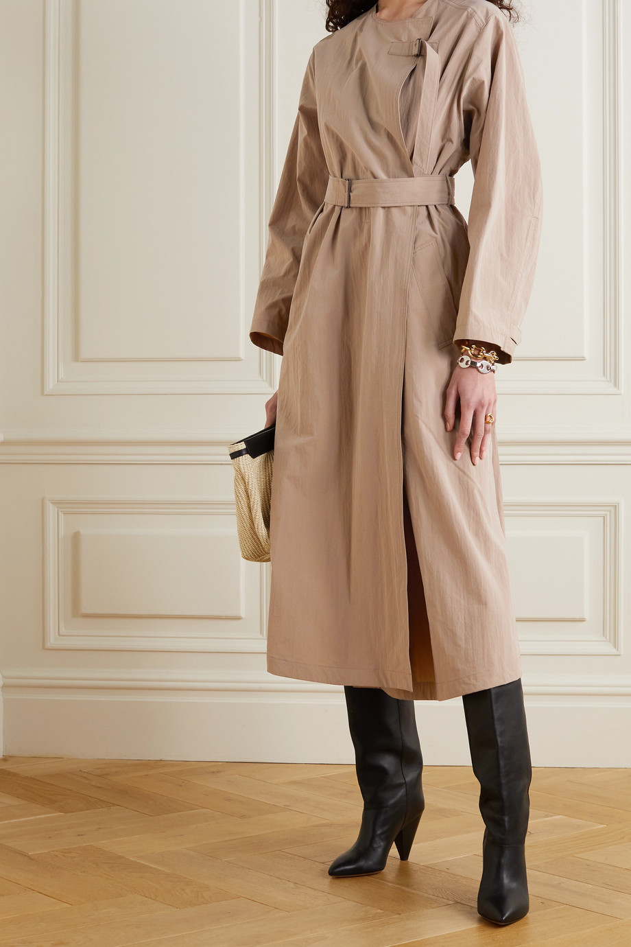 Isabel Marant Ilifawn crinkled-shell trench coat