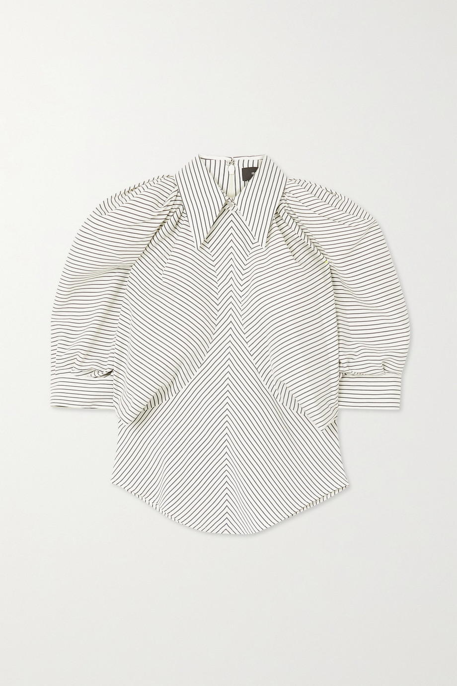 Isabel Marant Eori striped silk-crepe blouse