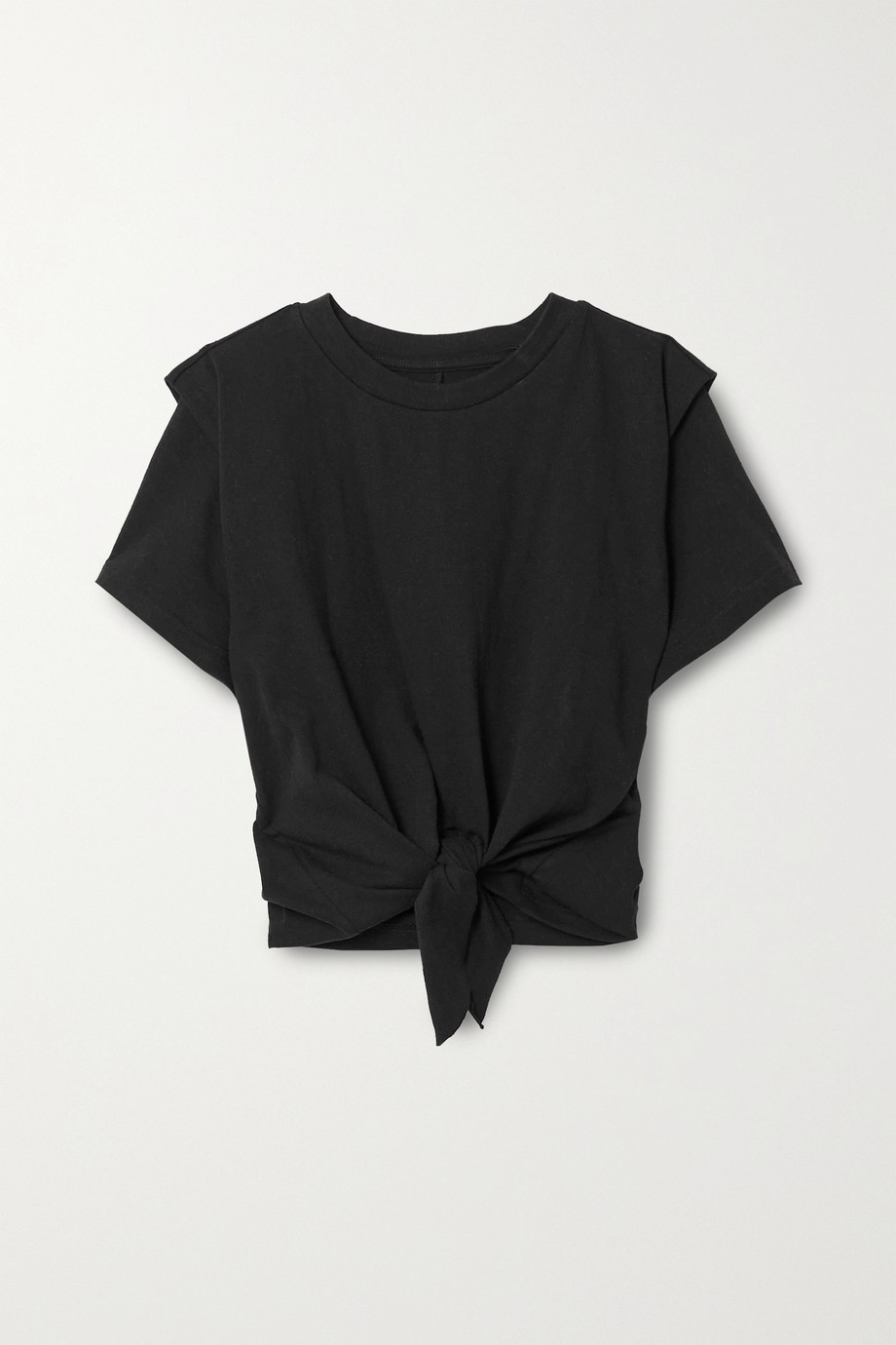 Isabel Marant Zelito verkürztes T-Shirt aus Baumwoll-Jersey zum Binden