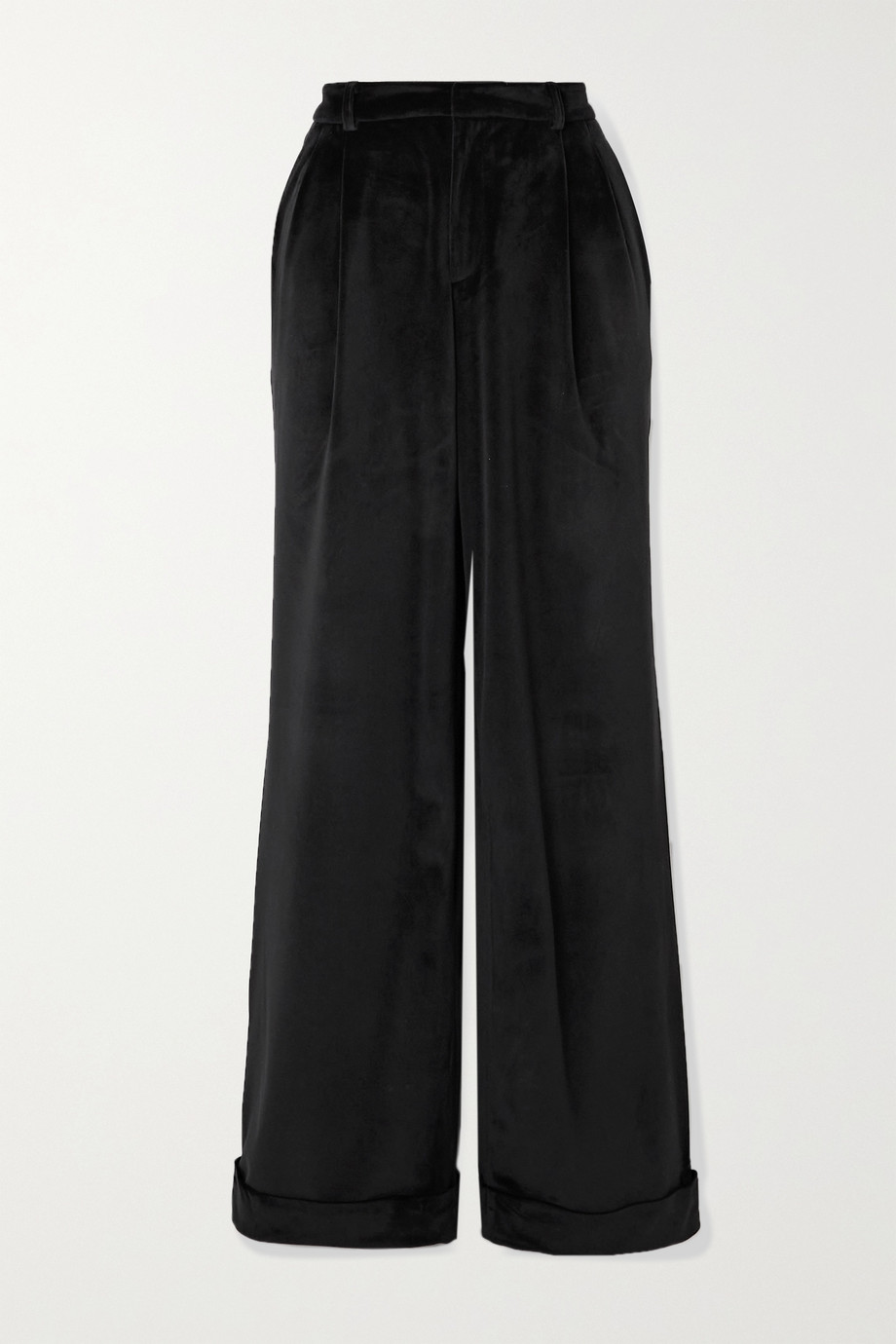 Àcheval Pampa Gardel pleated velvet straight-leg pants