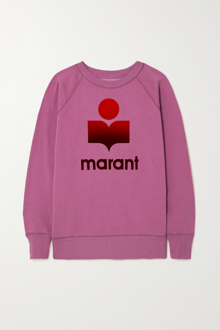 Isabel Marant Étoile Milly flocked cotton-blend jersey sweatshirt