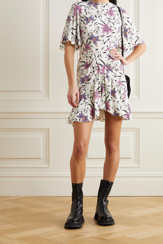 Isabel Marant Étoile Osias ruched floral-print crepe de chine mini dress
