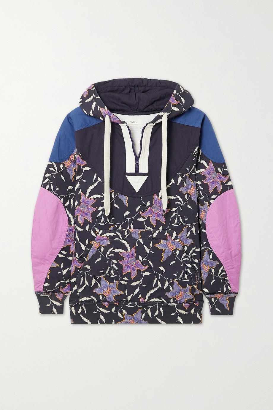 Isabel Marant Étoile Pull à capuche en jersey de coton mélangé à imprimé fleuri Nanselia