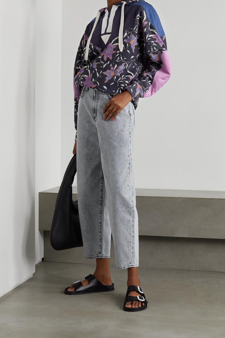 Isabel Marant Étoile Nanselia paneled floral-print cotton-blend jersey hoodie