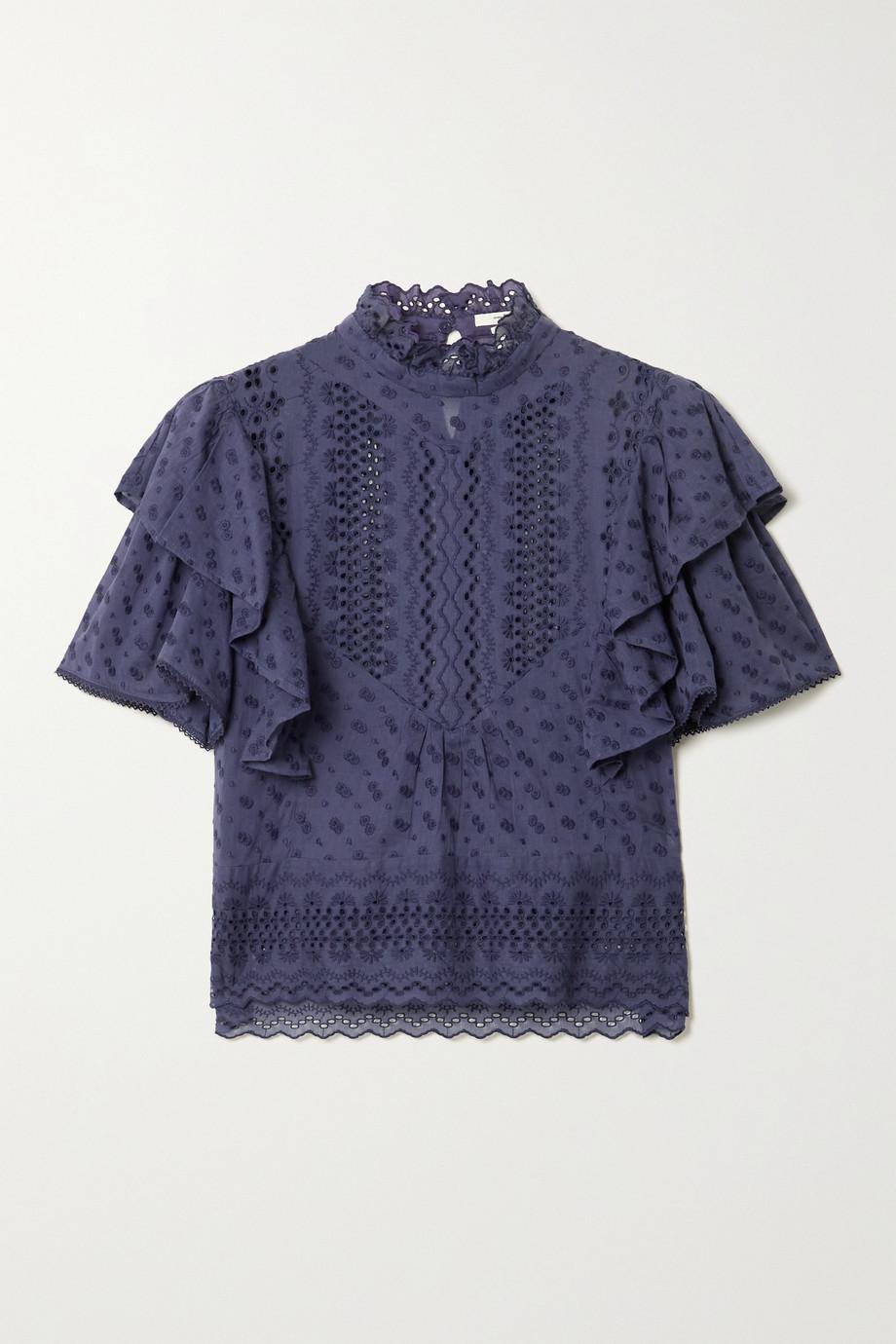 Isabel Marant Étoile Tizaina ruffled broderie anglaise cotton blouse