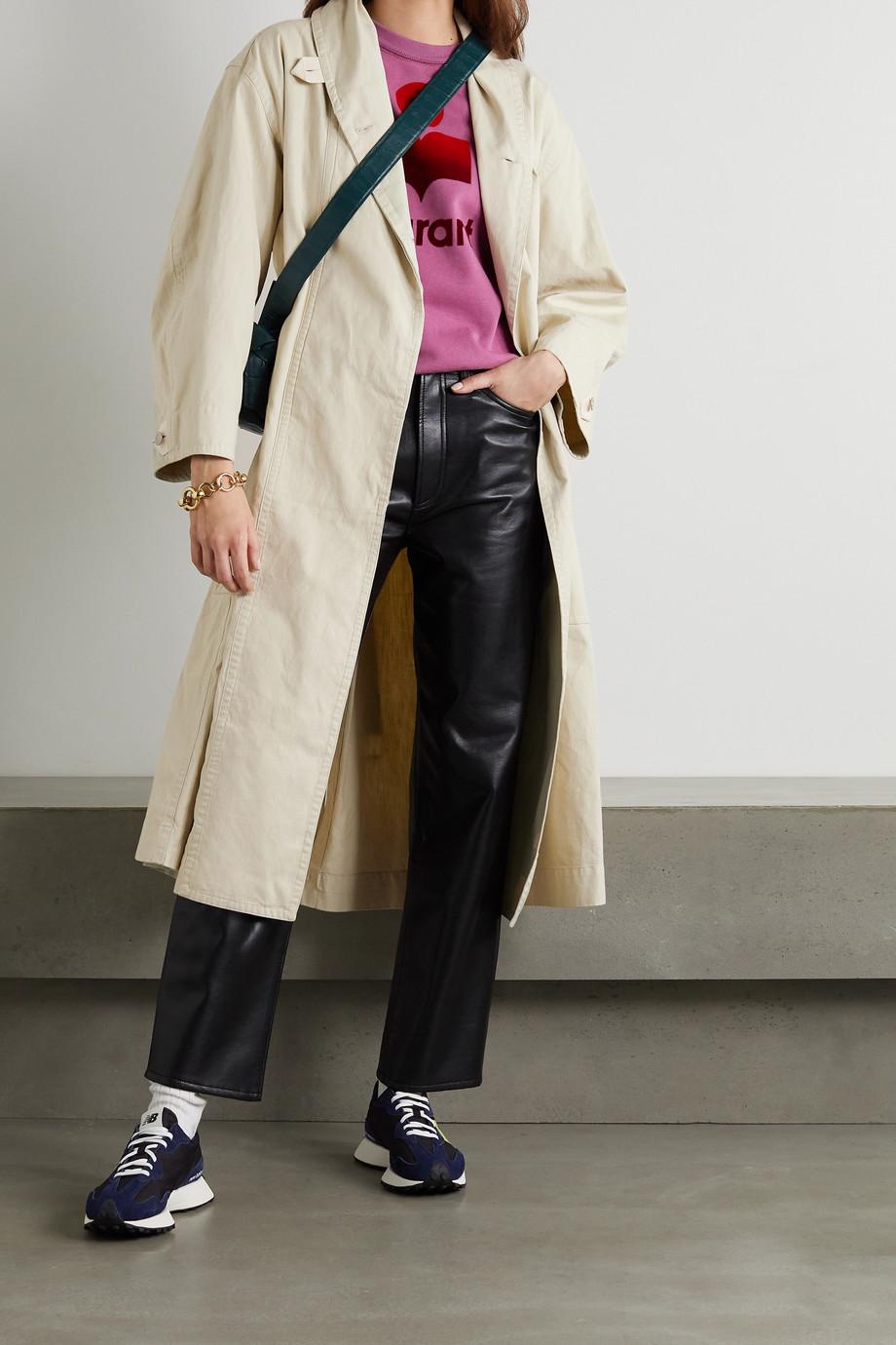 Isabel Marant Étoile Trench-coat oversize en coton et lin mélangés à ceinture Peter