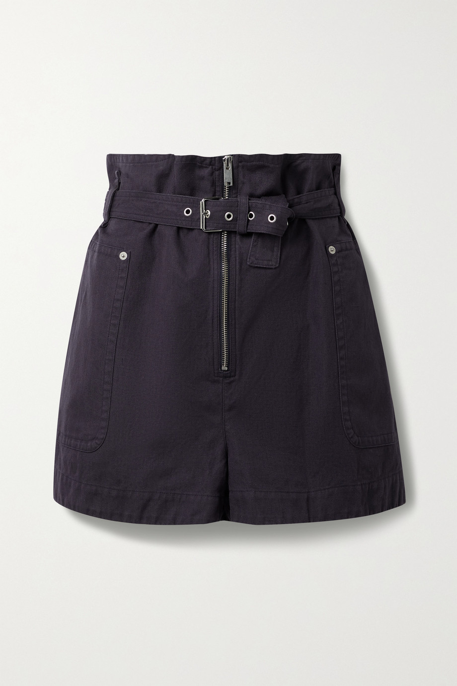 Isabel Marant Étoile Parana cotton and linen-blend belted shorts