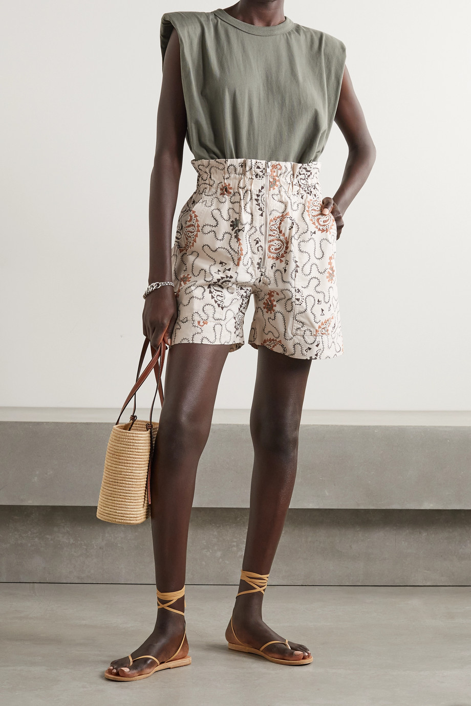 Isabel Marant Étoile Nawel printed cotton shorts