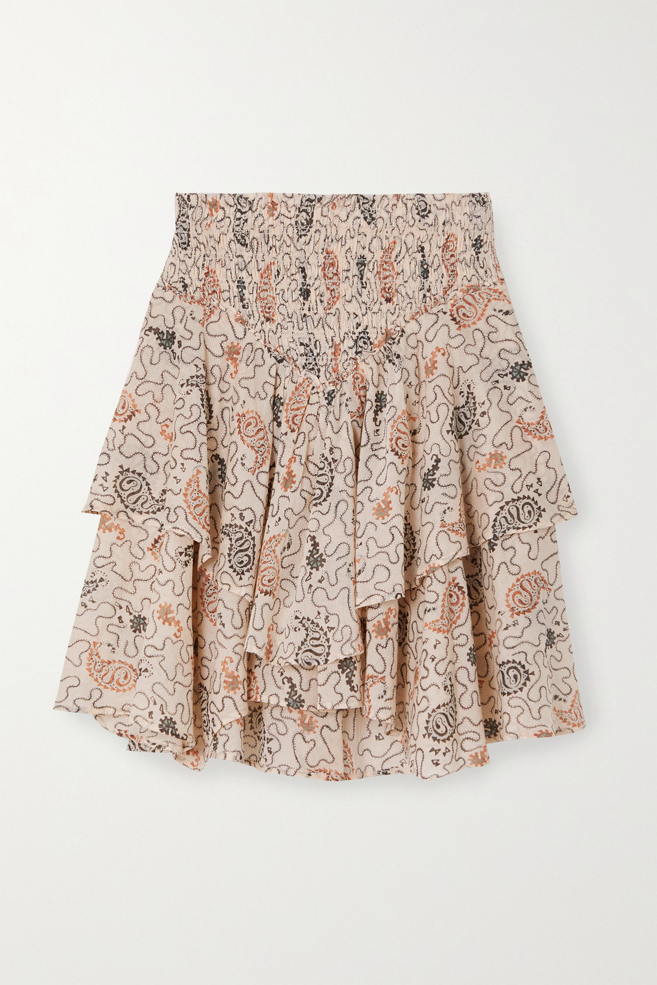 Isabel Marant Étoile Also tiered shirred printed cotton-voile mini skirt