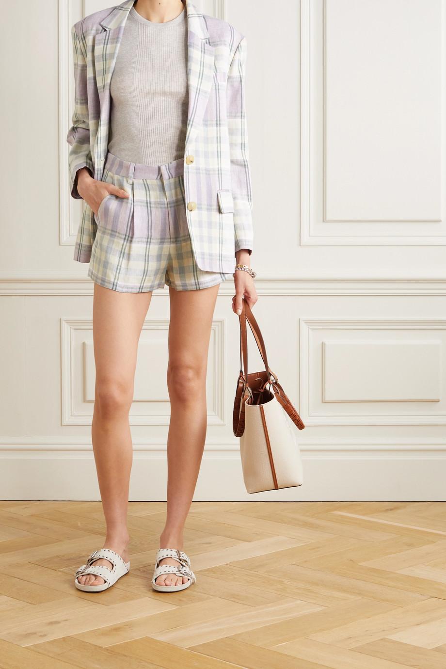 Isabel Marant Étoile Ilabot checked linen shorts