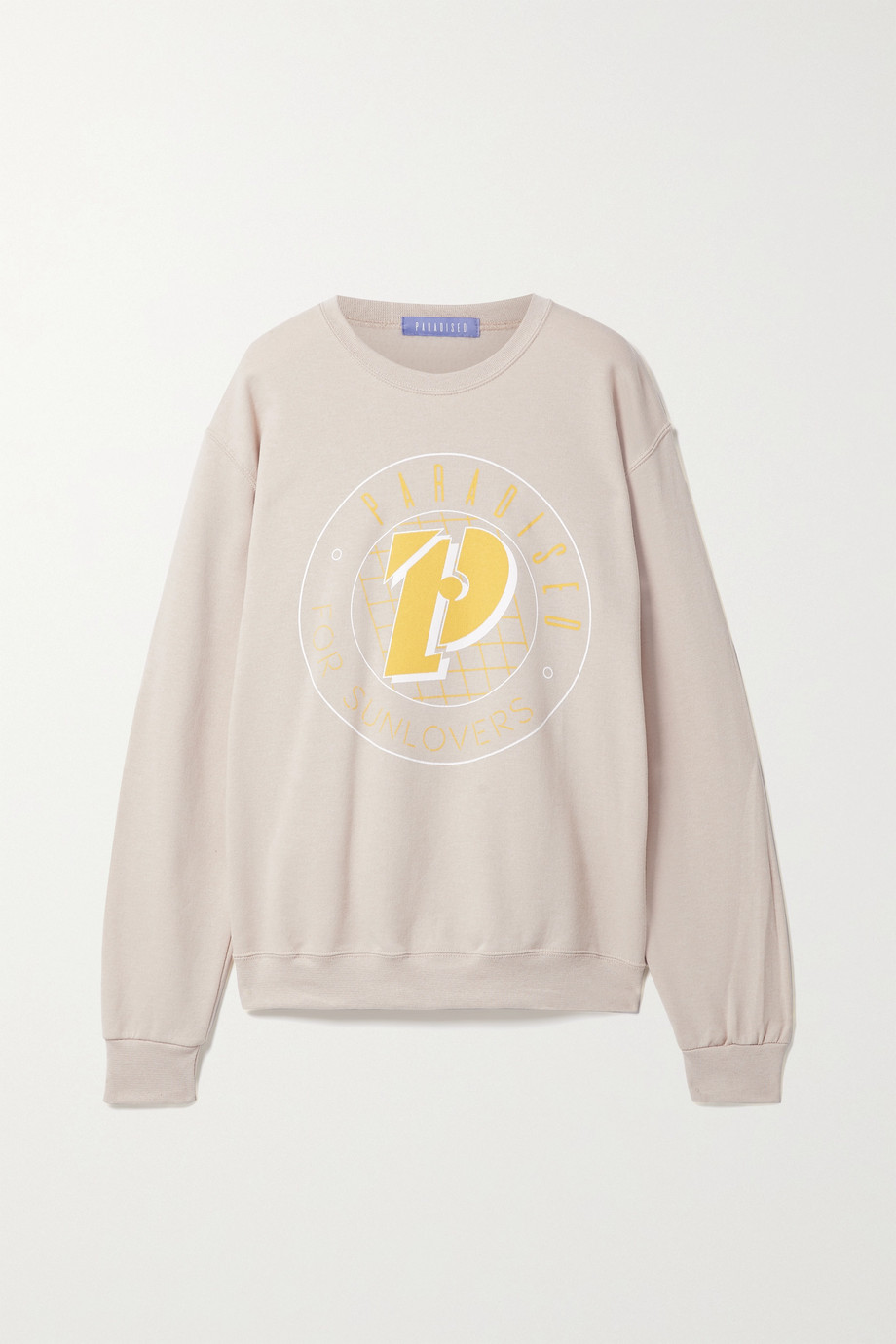 Paradised + NET SUSTAIN printed cotton-blend jersey sweatshirt