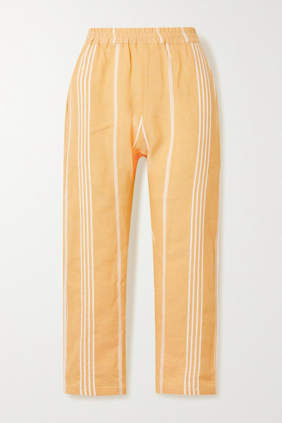 Paradised + NET SUSTAIN striped cotton pants