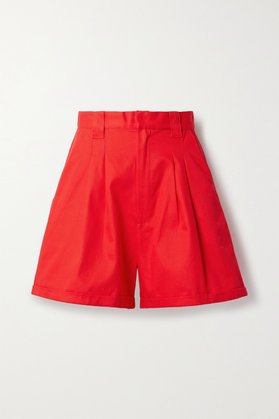 Paradised + NET SUSTAIN Jamie pleated cotton-twill shorts