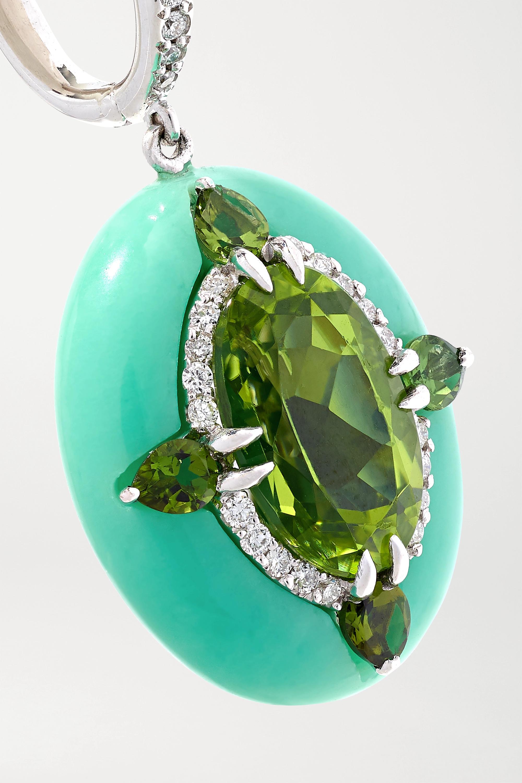 White Gold Reveal 18-karat Multi-stone Earrings | Boghossian