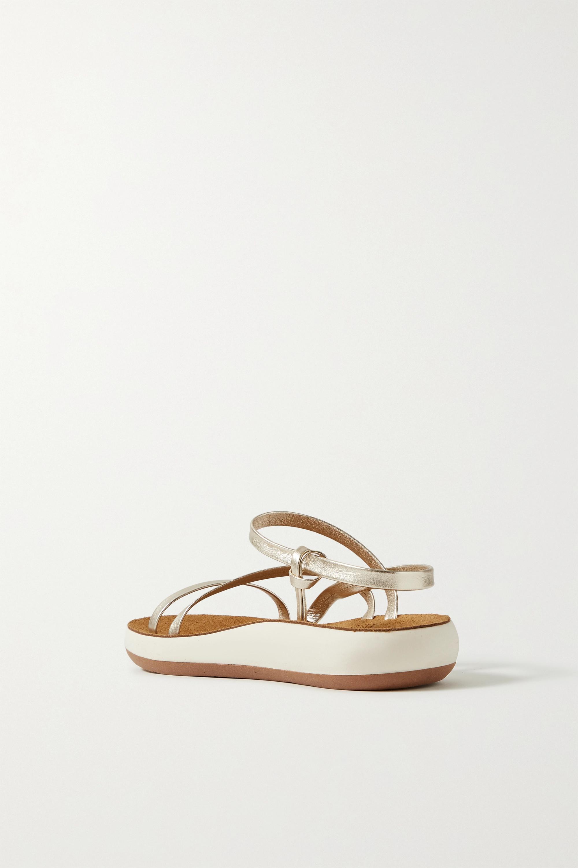 Ancient Greek Sandals Dimitra Slingback-Sandalen aus Metallic-Leder