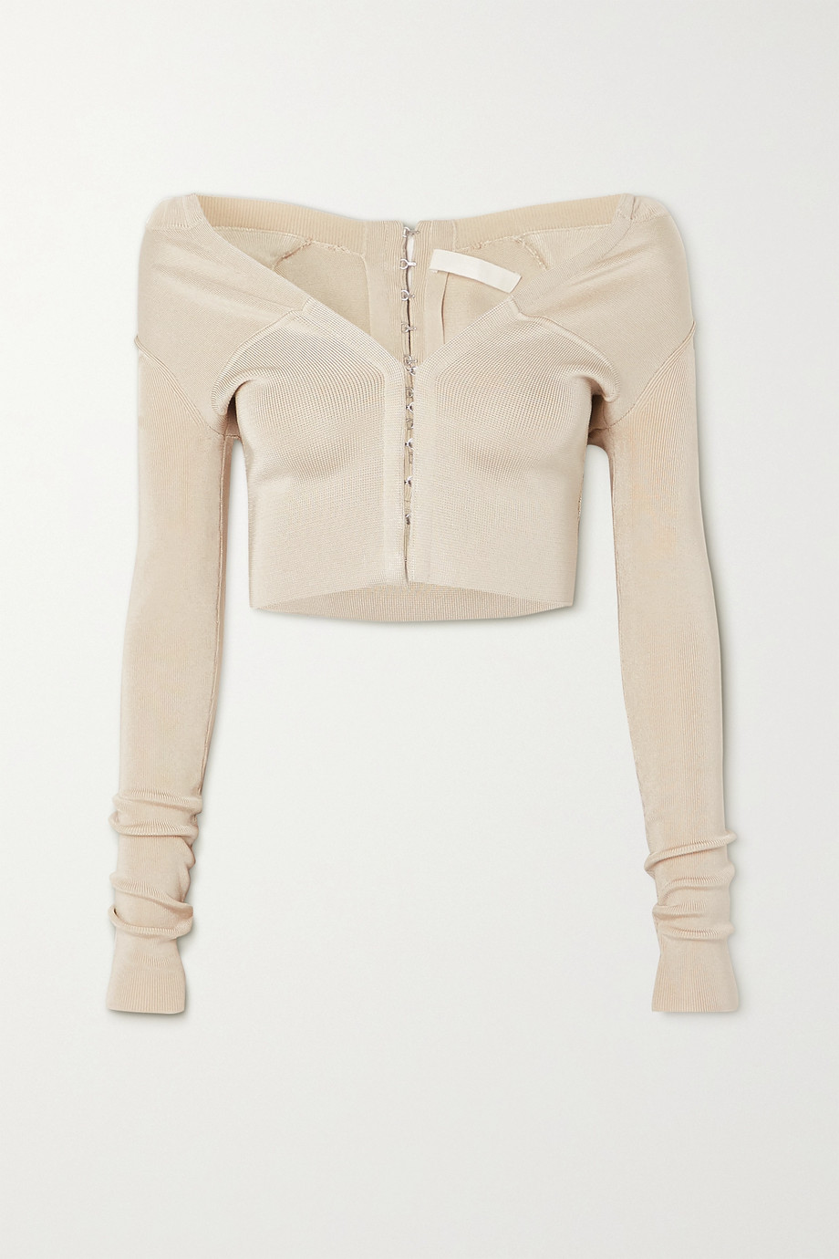 Dion Lee Cropped stretch-knit cardigan