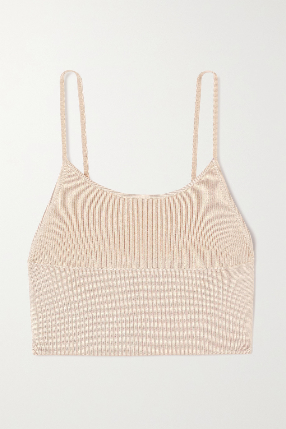 Dion Lee Density cropped ribbed-knit top