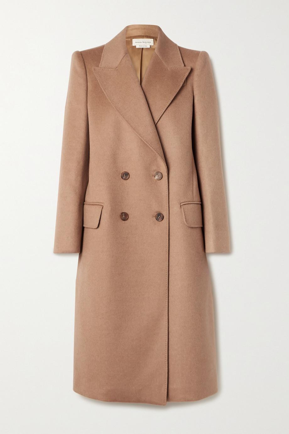Alexander McQueen Double-breasted camel hair coat