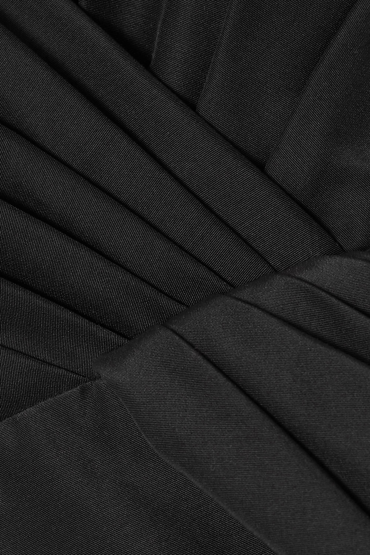 Alexander McQueen Midikleid aus einer Baumwoll-Seidenmischung mit Falten