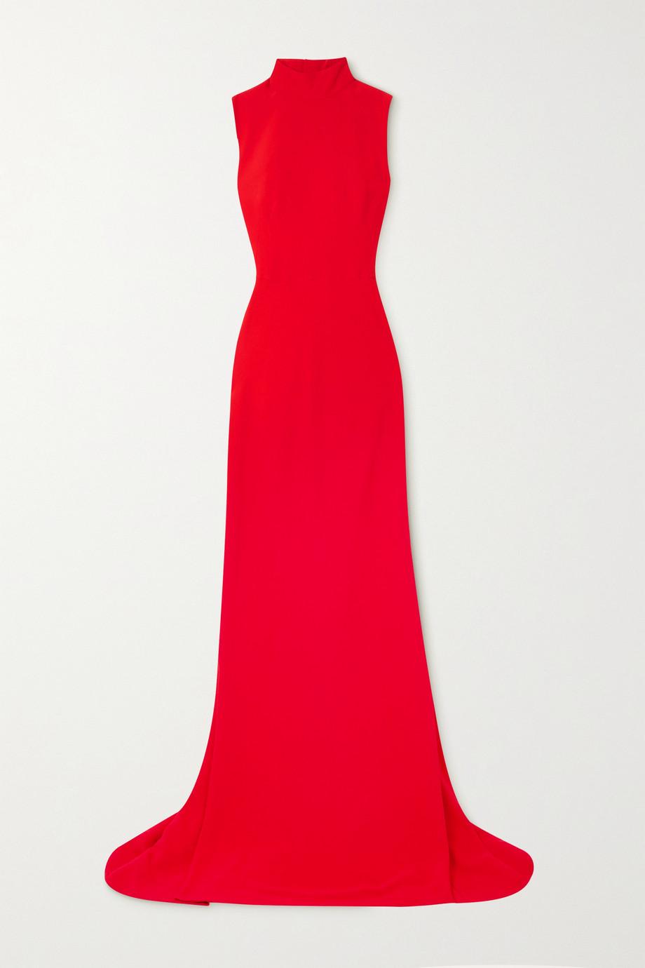 Alexander McQueen Open-back crepe gown