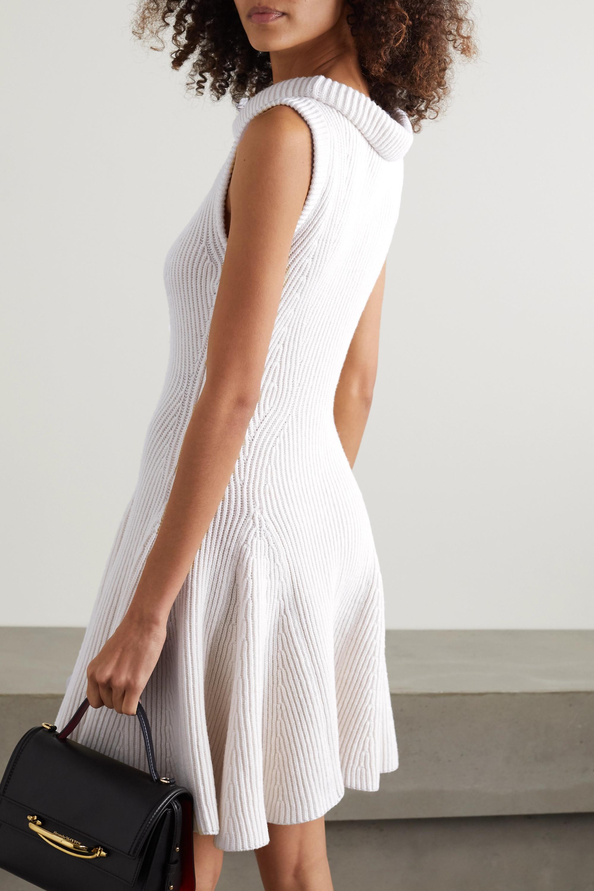 Alexander McQueen Geripptes Minikleid aus Wolle