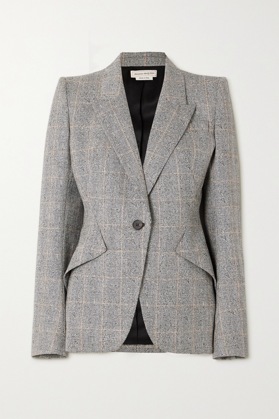 Alexander McQueen Prince of Wales checked wool-blend blazer