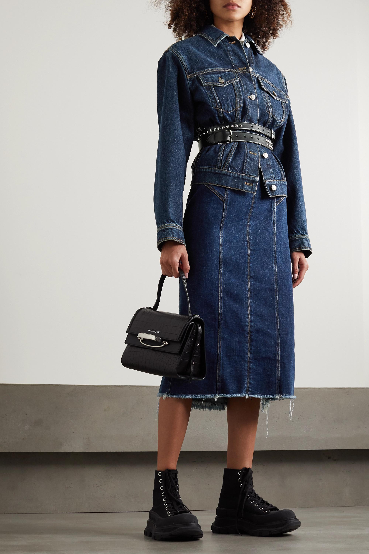 Alexander McQueen Oversized-Jacke aus Denim
