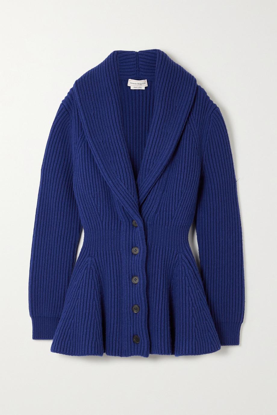 Alexander McQueen Ribbed wool cardigan