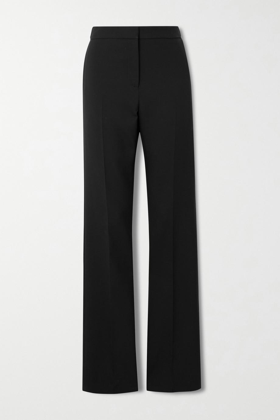 Alexander McQueen Pantalon droit en laine mélangée