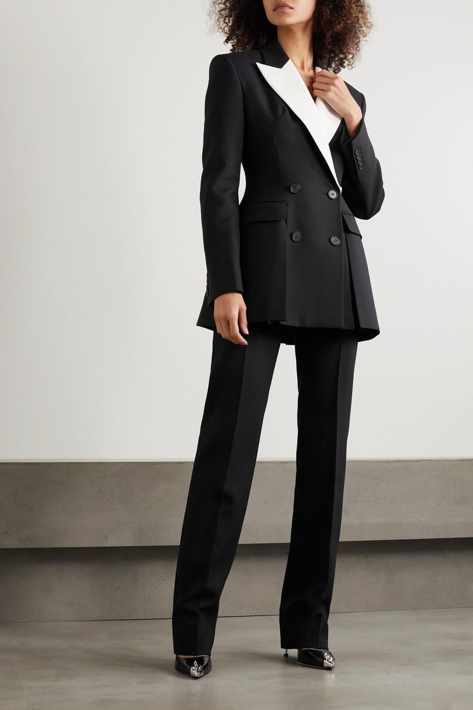 Alexander McQueen Wool-blend straight-leg pants