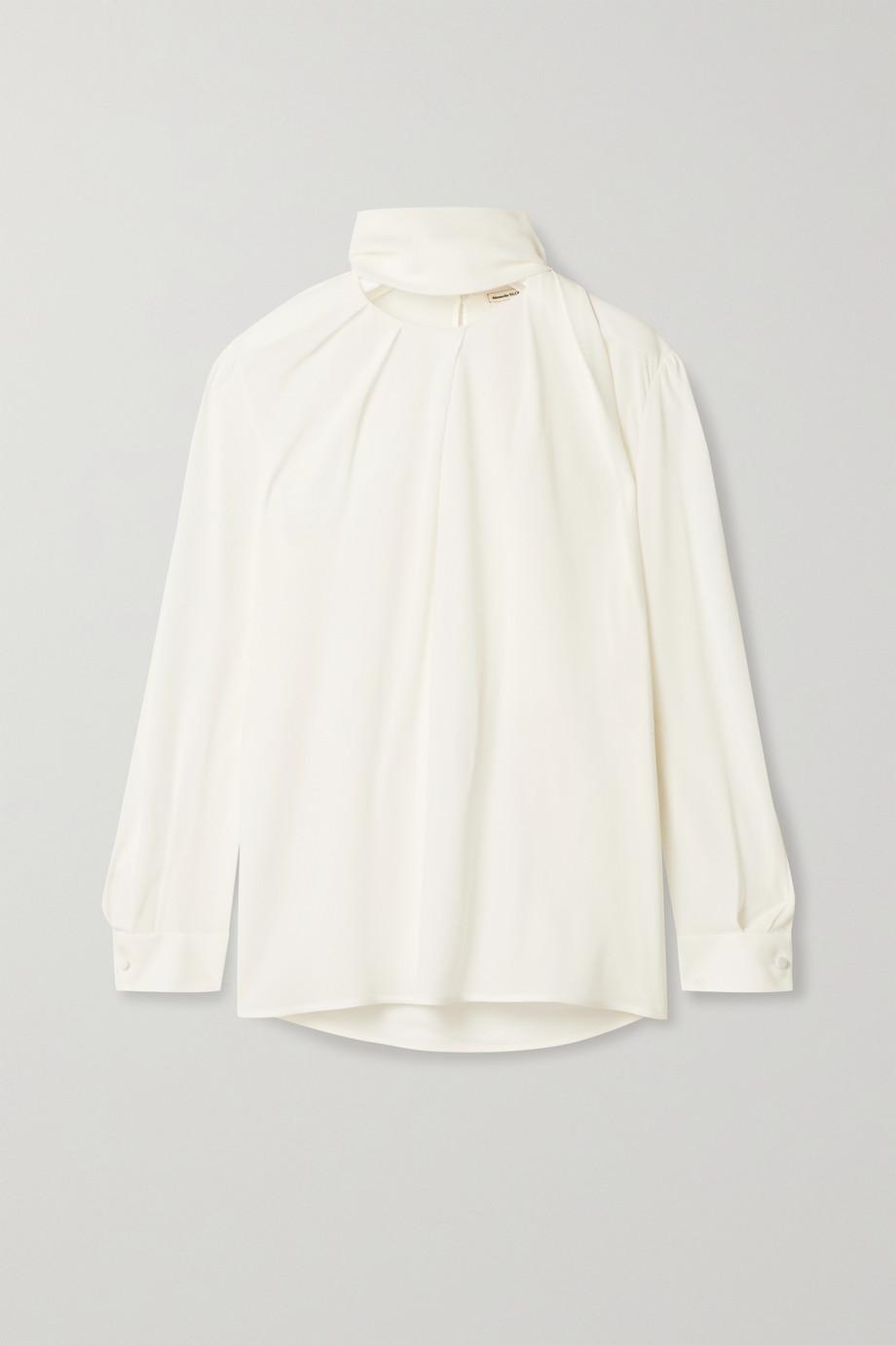 Alexander McQueen Tie-detailed silk crepe de chine blouse